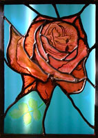 Annie Aitken - Stained Glass. Rose