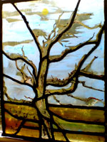 Annie Aitken - Stained Glass. Tree